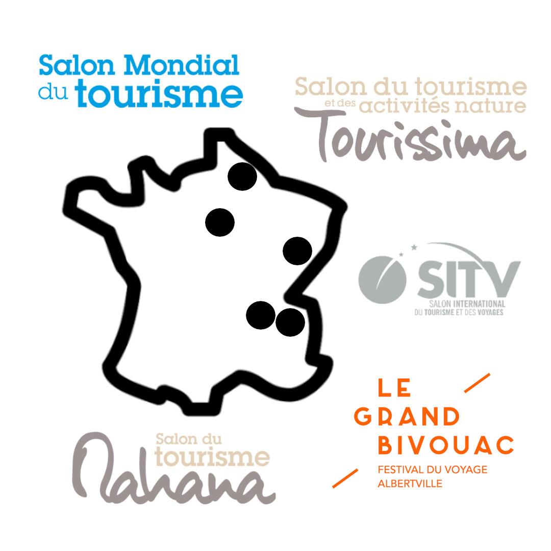 Carte à Voyager - les grands salons du tourisme